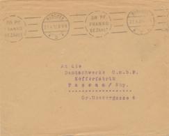 Deutsches Reich - 1922 - 50 Pf Franko Bezahlt - München - Machine Stempel On Cover To Passau - Germania