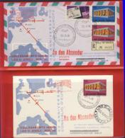 1969- Folder Settimana Filatelica Europea Contenente Lettera Raccomandata+cartolina Collegamento Aereo Lido Di Jesolo-Be - 1961-70: Marcophilie