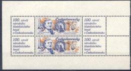 1987-(MNH=**) Cecoslovacchia 2 Valori Con Appendice Jakub Obrovsky - Cecoslovacchia