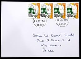 2019 Cover, The 150th Anniversary Of Birth Of Mohandas Gandhi, Ulcinj Montenegro To Amman Jordan - Montenegro