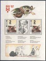 1987-(MNH=**) Cecoslovacchia Foglietto Biennale Di Bratislava - Cecoslovacchia