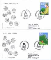Faroe Islands; 2007.  Europa - CEPT; Scouting 100 Years. Set Of 2 On FDC. - 2007