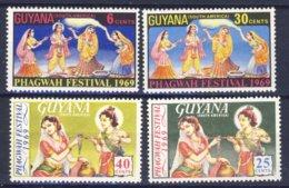 1969-(MNH=**) Guyana Serie 4 Valori Phagwah Festival - Guiana (1966-...)