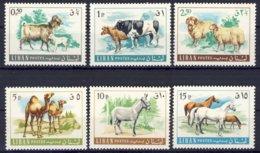 1968-(MNH=**) Libano Serie 6 Valori Animali Domestici - Libano