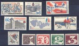 1980-(MNH=**) Cecoslovacchia Lotticino 11 Valori - Cecoslovacchia