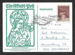 Österreich 1969  Mi.Nr. 1318 , Christkindl=Post - Postkarte - Gestempelt / Fine Used / (o) Christkindl 21.12.69 - 1945-.... 2. Republik