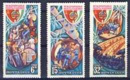 1980-(MNH=**) Russia Serie 3 Valori Volo Nello Spazio - Non Classificati