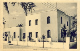 1937-Tripolitania Cartolina HOMS Ambulatorio,24.10.37 - Tripolitaine