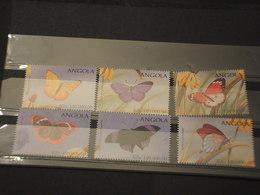 ANGOLA - 1998 FARFALLE 6 VALORI - NUOVI(++) - Angola