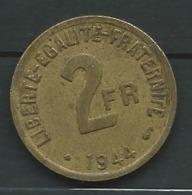 France 2 Francs 1944 Philadelphie   Pieb 22705 - Frankreich