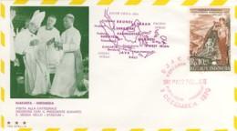 1970-Indonesia Aerogramma Viaggio Di Sua Santita' Paolo VI In Estremo Oriente - Indonesia