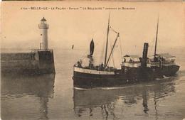 """56 - BELLE-ILE - LE PALAIS - VAPEUR """"LE BELLILOIS"""" ARRIVANT DE QUIBERON - Belle Ile En Mer"""