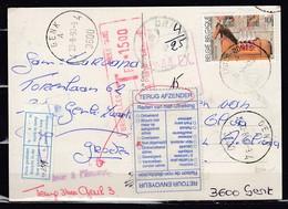 Postkaart Van Trois-Ponts Naar Gent Getakseerd In Bruxelles 1 - Belgien