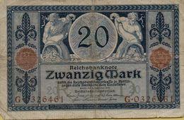 1915 Germany 20 Marks P#63 - [ 3] 1918-1933: Weimarrepubliek