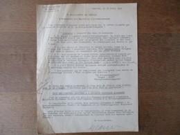 CAMBRAI LE 16 AVRIL 1941 NOTE DU SOUS-PREFET AU SUJET D'UNE LETTRE RECUE DE M. LE KRIEGSVERWALTUNGSRAT HOHN - Historische Dokumente