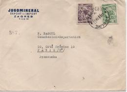 YOUGOSLAVIE    LETTRE  DE ZAGREB POUR PARIS  PUBLICITE JUGOMINERAL - 1945-1992 Sozialistische Föderative Republik Jugoslawien