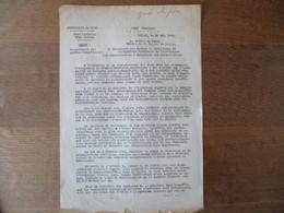ETAT FRANCAIS LILLE LE 20 MAI 1942 NOTE DU PREFET DU NORD F. CARLES OBJET: RECRUTEMENT DES GARDES-CHAMPÊTRES - Historische Dokumente
