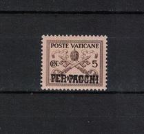 VATIKAN , Vatican  , 1931 , ** , MNH , Postfrisch , Mi.Nr. Packetmarke 1 - Colis Postaux