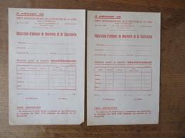COMITE INTERDEPARTEMENTAL DE LA REPARTITION DE LA VIANDE DECLARATION D'ANIMAUX DE BOUCHERIE ET DE CHARCUTERIE 1941 LE MA - Historische Documenten
