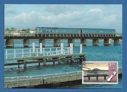 New Zealand 1997  Mi.Nr. 1619 , Panorama Eisenbahnstrecken - Maximum Card - First Day Of Issue  6. August 1997 - Used Stamps