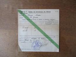 COMMUNE DE LA GROISE ORDRE DE LIVRAISON DU BETAIL N°2 DU 29-11-1944 LE MAIRE - Historische Dokumente