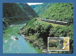 New Zealand 1997  Mi.Nr. 1618 , Panorama Eisenbahnstrecken - Maximum Card - First Day Of Issue  6. August 1997 - Used Stamps