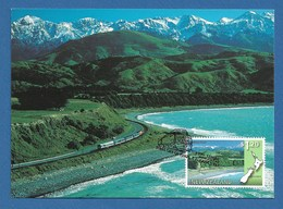 New Zealand 1997  Mi.Nr. 1617 , Panorama Eisenbahnstrecken - Maximum Card - First Day Of Issue  6. August 1997 - Used Stamps