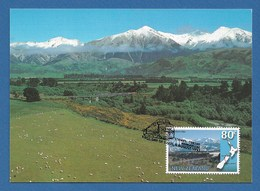 New Zealand 1997  Mi.Nr. 1615 , Panorama Eisenbahnstrecken - Maximum Card - First Day Of Issue  6. August 1997 - Used Stamps