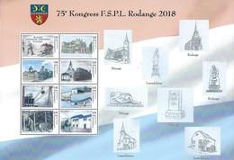 Luxembourg  -  Feuille - 25.10.1945 Gröndung Timberfrenn Rodange - 75e Kongress F.S.P.L. Rodange 2018 - Feuilles Complètes