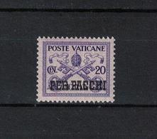 VATIKAN , Vatican  , 1931 , ** , MNH , Postfrisch , Mi.Nr. Paketmarke 3 - Colis Postaux