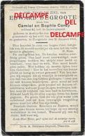 Oorlog Guerre Edward De Groote Aartrijke Soldaat 3 Linie Gesneuveld Te Hoogstade 1916 Cordy TORHOUT - Images Religieuses