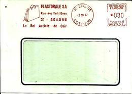 EMA Secap Nb Plastorale Article Sac Industrie Cuir  Ecole 21 Beaune C3/45 - Postmark Collection (Covers)