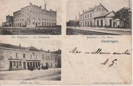 57 - UCKANGE - 3 VUES - LA GARE - HOTEL DE LA POSTE - LA BRASSERIE - France