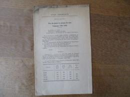 ETAT FRANCAIS SERVICE DES PRIX LILLE LE 17 DECEMBRE 1942 LE PREFET PRIX DES PLANTS DE POMMES DE TERRE CAMPAGNE 1942/1943 - Historische Dokumente