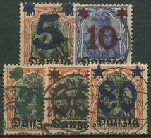 Danzig 1920 Germania Mit Aufdruck 16/20 Gestempelt, Massenentwertung - Dantzig
