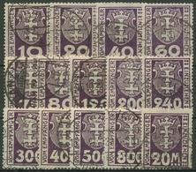 Danzig Portomarken 1921 Kleines Wappen P 1/14 Gestempelt, Massenentwertung - Dantzig