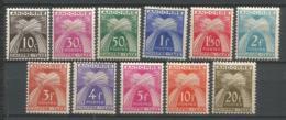 ANDORRE TAXES ANNEE 1943/1946 N°21 A 31 NEUFS*MH - Nuevos