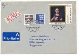 Registered Cover Abroad / Painting - 4 February 1992 Rødovre - Dänemark