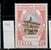 Europa 1980 Italie - Italy - Italien Y&T N°1417 - Michel N°1685 *** - 220l Expostion Philatélique à Naples - Idee Europee