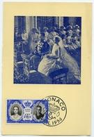 MONACO : CARTE SOUVENIR - AVRIL 1956 : L'OFFICE DES EMISSIONS - MARIAGE (15.5 X 10.5cms Approx.) - Cartes-Maximum (CM)