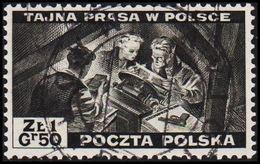 1943. 2WW. London. 1.50 Z TAJNA PRASA W POLSCE. (Michel 375) - JF320496 - 1939-44: World War Two