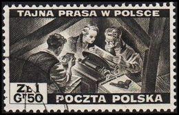 1943. 2WW. London. 1.50 Z TAJNA PRASA W POLSCE. (Michel 375) - JF320497 - 1939-44: World War Two