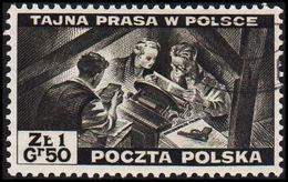 1943. 2WW. London. 1.50 Z TAJNA PRASA W POLSCE. (Michel 375) - JF320498 - 1939-44: World War Two