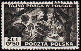 1943. 2WW. London. 1.50 Z TAJNA PRASA W POLSCE. (Michel 375) - JF320499 - 1939-44: World War Two