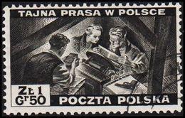1943. 2WW. London. 1.50 Z TAJNA PRASA W POLSCE. (Michel 375) - JF320500 - 1939-44: World War Two
