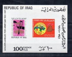 IRAQ - 1971 - Foglietto Giubileo D'Oro Giornata Dell'Esercito - Nuovo ** - (FDC19772) - Iraq