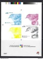 PORTUGAL - EUROPA 2019 Azores - Printed Color Proof - Specht- & Bartvögel