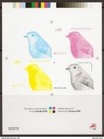 PORTUGAL - EUROPA 2019 - Printed Color Proof - Specht- & Bartvögel