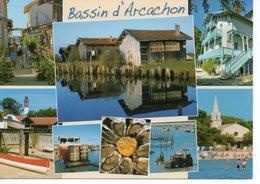 ARCACHON - BASSIN - LES RUELLES FLEURIES - LES CABANES OSTRÉICOLES - CAP FERRET ET L'EGLISE D'ANDERNOS - Arcachon