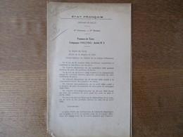 ETAT FRANCAIS REGION DE LILLE LE 19 JUIN 1942 LE PREFET F. CARLES PRIX DES POMMES DE TERRE CAMPAGNE 1942/1943 ARRÊTE N°3 - Historische Documenten